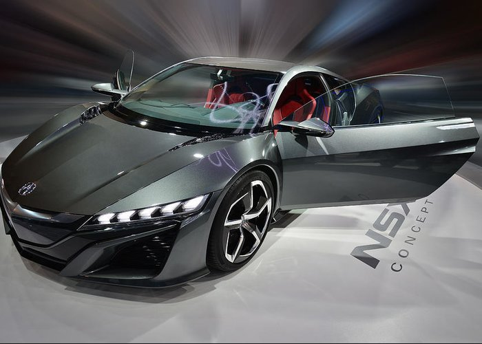 Acura Greeting Card featuring the photograph Acura N S X Sh Concept 2013 by Dragan Kudjerski