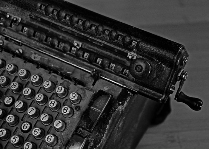 Office Greeting Card featuring the photograph Adding Machine Two by Todd Hartzo