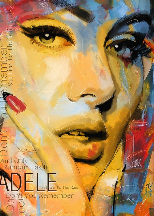 Adele Greeting Card featuring the painting Adele by Corporate Art Task Force