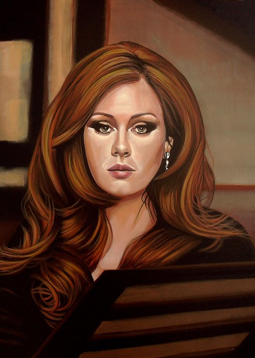 Adele Greeting Card featuring the painting Adele by Paul Meijering