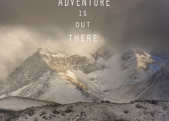 Lanscape Greeting Card featuring the photograph Adventure Is Out There. At The Mountains by Guido Montanes Castillo
