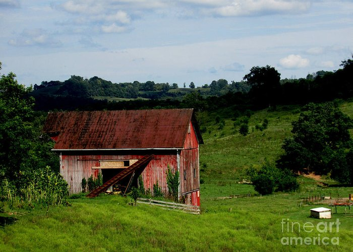 Farm Land Greeting Card featuring the photograph Aep775a by Scott B Bennett