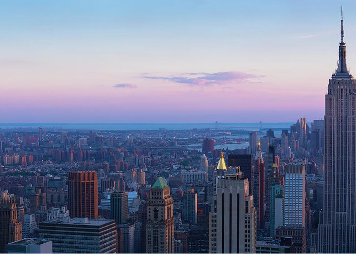 Tranquility Greeting Card featuring the photograph Aerial View Of Empire State And Midtown by Future Light