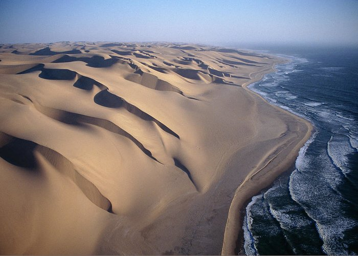 00511477 Greeting Card featuring the photograph Aerial View Of Sand Dunes by Michael and Patricia Fogden