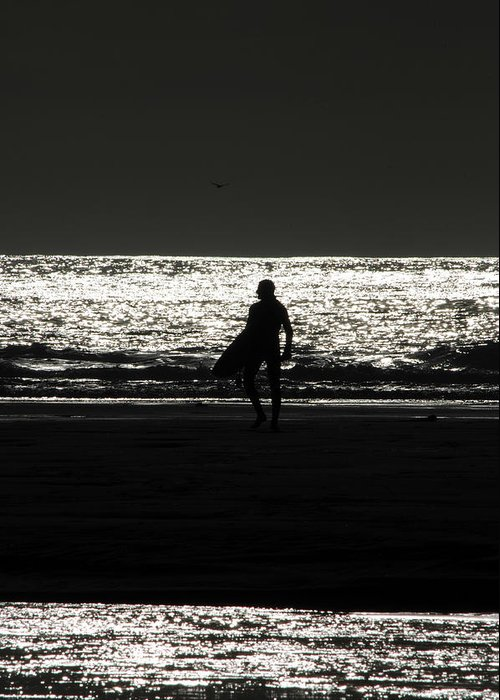 Surfing Greeting Card featuring the photograph After Hours by Donna Blackhall