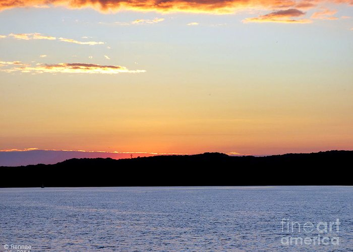 Landscape Greeting Card featuring the photograph After Sundown by Rennae Christman