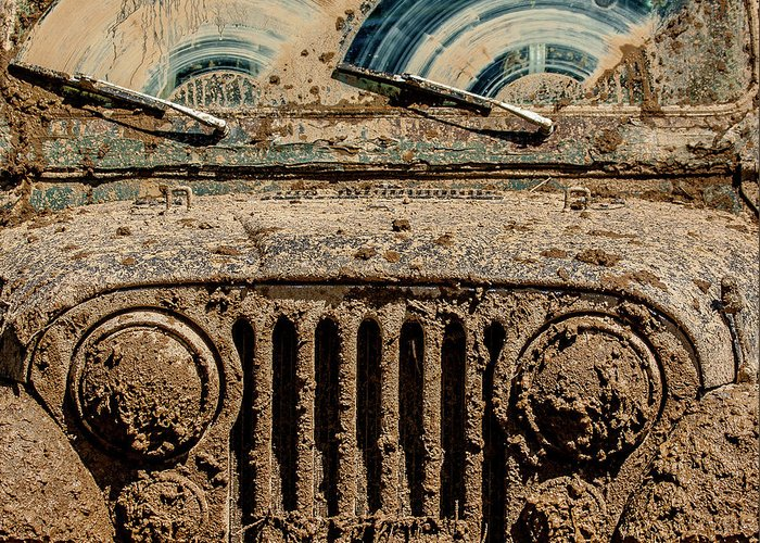 Jeep Greeting Card featuring the photograph After The Mudbog by Jay Heiser
