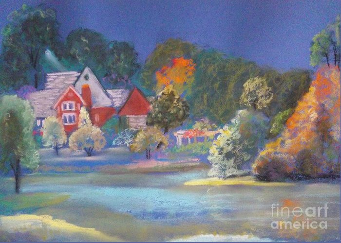 Autumn Greeting Card featuring the pastel After The Rain by Sandra McClure