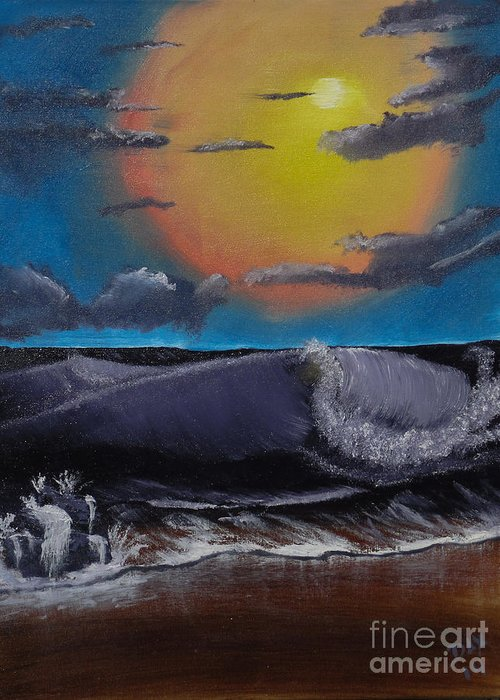 Landscape Greeting Card featuring the painting After The Storm by Dave Atkins