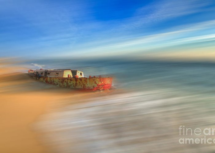 Outer Banks Greeting Card featuring the photograph Aftermath - A Tranquil Moments Landscape by Dan Carmichael