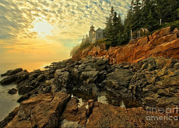 Bass Harbor Lighthouse Greeting Card featuring the photograph Afternoon At Bass Harbor by Adam Jewell