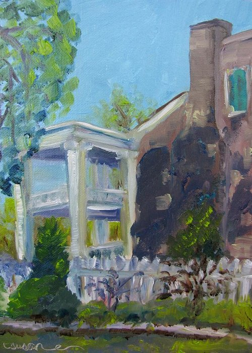Carnton Greeting Card featuring the painting Afternoon At Carnton Plantation by Susan E Jones