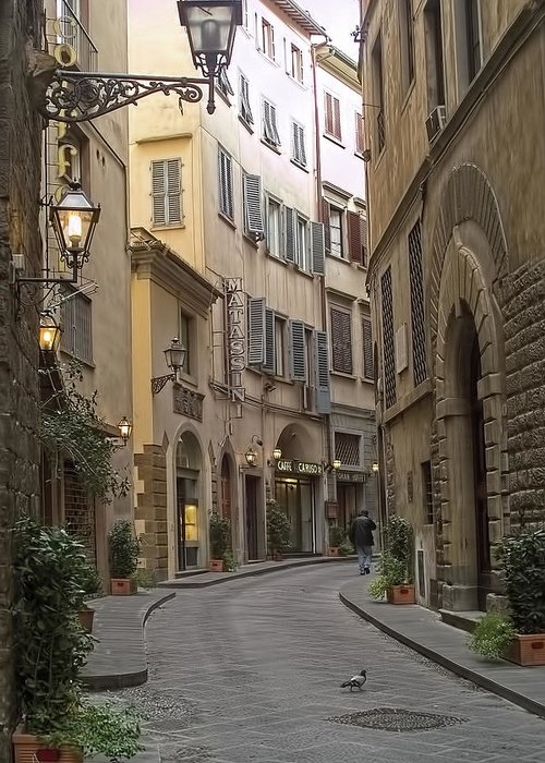 Street Greeting Card featuring the photograph Afternoon In Florence by Michael Flood