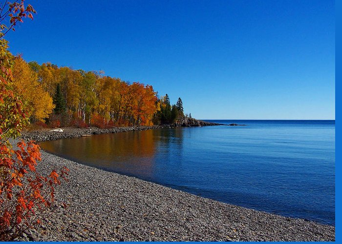 Agate Beach Greeting Card featuring the photograph Agate Beach On Lake Superior by Steve Anderson
