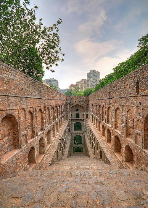Tranquility Greeting Card featuring the photograph Agrasen Ki Baoli, New Delhi by Mukul Banerjee Photography