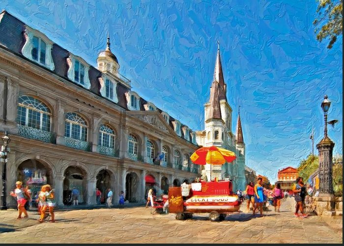 French Quarter Greeting Card featuring the photograph Ahh...new Orleans Impasto by Steve Harrington