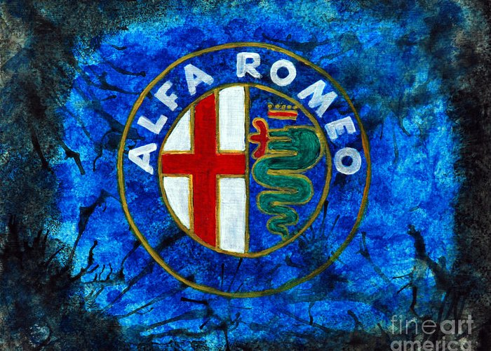 Alfa Romeo Greeting Card featuring the painting Ai - Ar1 by William Homeier