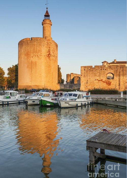 Aigues-mortes Greeting Card featuring the photograph Aigues-mortes Languedoc-roussillon France Constance Tower by Colin and Linda McKie