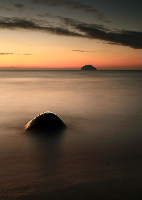 Sunset Greeting Card featuring the photograph Ailsa Craig Sunset by Grant Glendinning