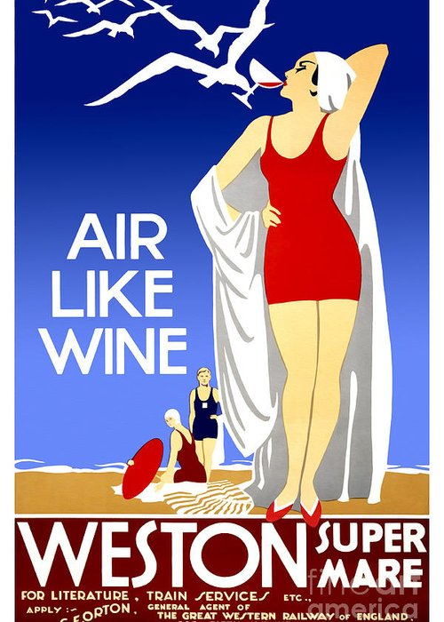 Air Like Wine Greeting Card featuring the drawing Air Like Wine by Jon Neidert