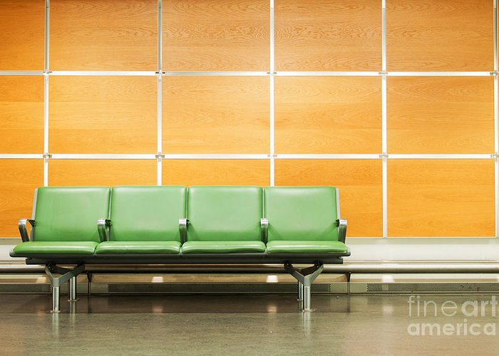 Airport Greeting Card featuring the photograph Airport Seats by Luis Alvarenga