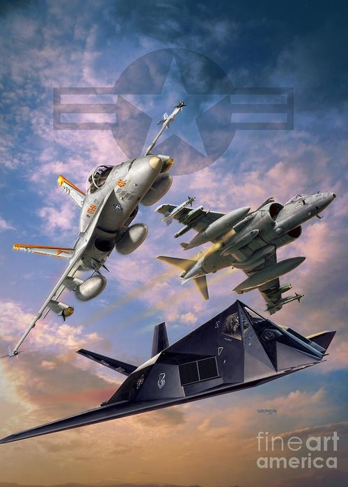American Airpower Greeting Cards