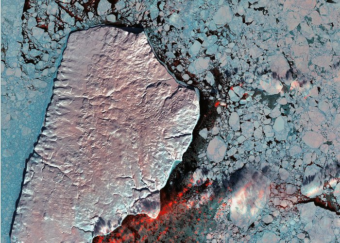 Akpatok Island Greeting Card featuring the photograph Akpatok Island by USGS Landsat