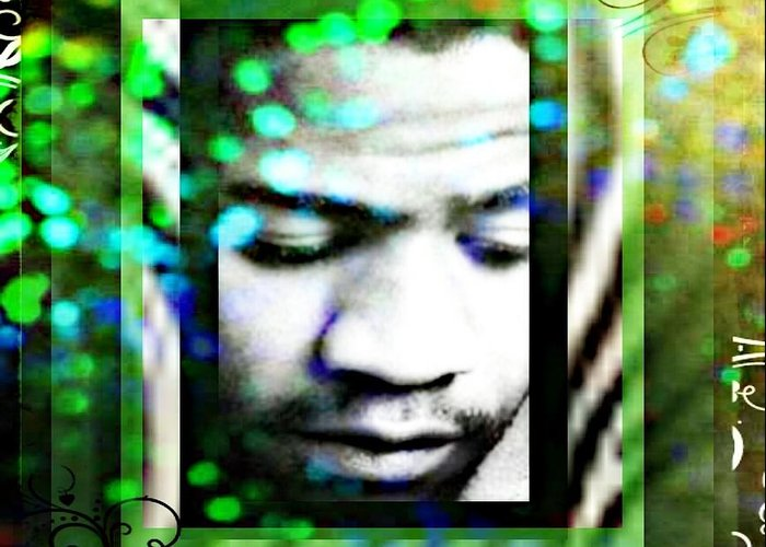 Greeting Card featuring the mixed media Al Green by Tracie Howard