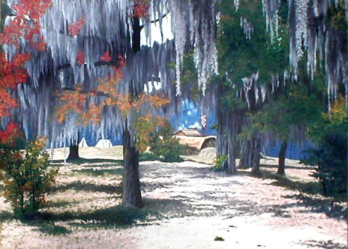 Fort Jackson Greeting Card featuring the painting Alabama Fort Jackson by Beth Parrish