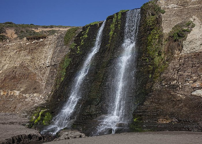 Alamere Falls Greeting Card featuring the photograph Alamere Falls Three by Garry Gay