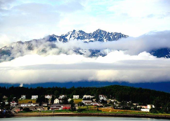 Alaska Greeting Card featuring the photograph Alaska Coastal Village by Gerald Blaine