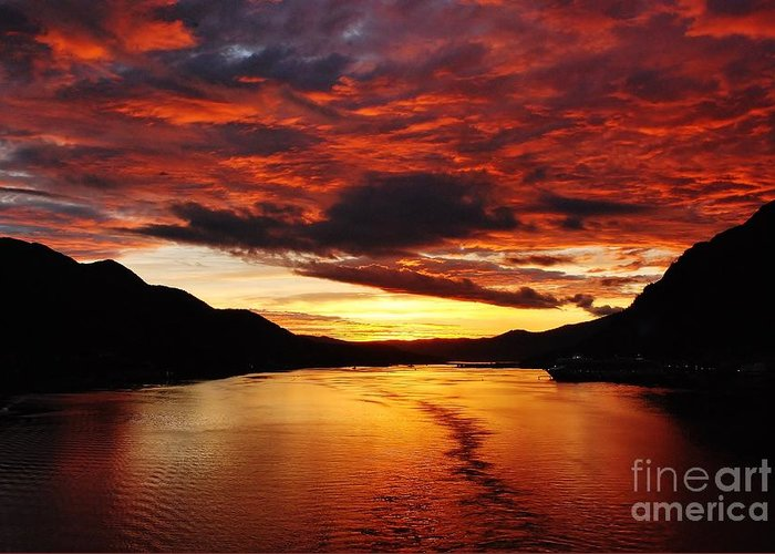 Nature Greeting Card featuring the photograph Alaska Sunset by Gene Mark