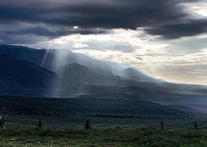 Sunrise Greeting Card featuring the photograph Alaskan Sunrise by Gary O'Boyle
