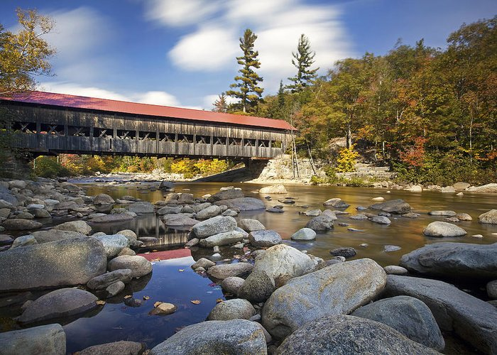 Albany Covered Bridge Greeting Card featuring the photograph Albany Covered Bridge by Eric Gendron