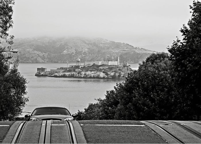 Alcatraz Greeting Card featuring the photograph Alcatraz Island From Hyde Street In San Francisco by RicardMN Photography