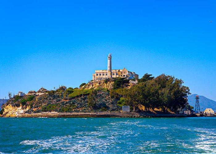 Alcatraz Greeting Card featuring the photograph Alcatraz Island by James O Thompson
