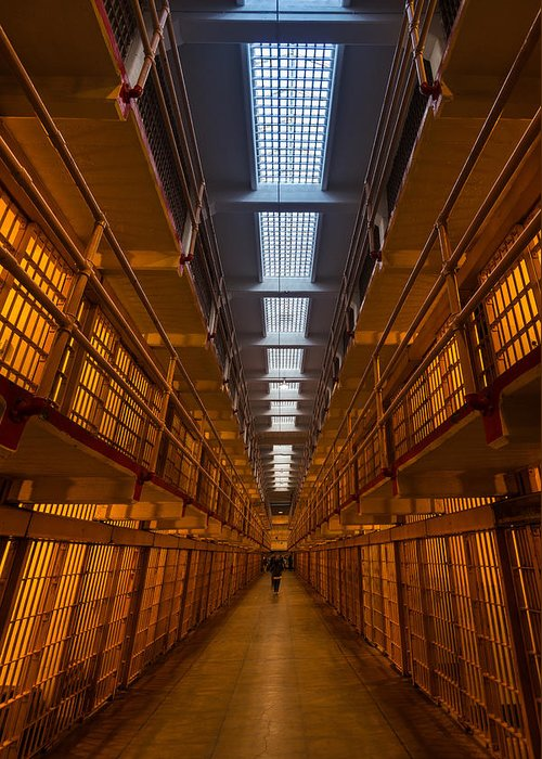 Prison Cell Greeting Cards