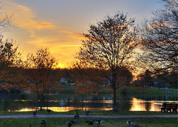 Landscape Greeting Card featuring the photograph Alcion Lake by Robert Culver