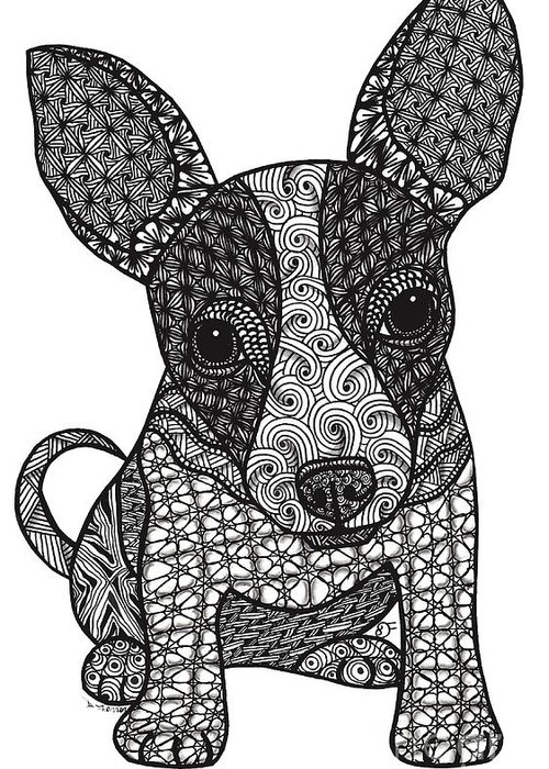 Alert Chihuahua Greeting Card For Sale By Dianne Ferrer