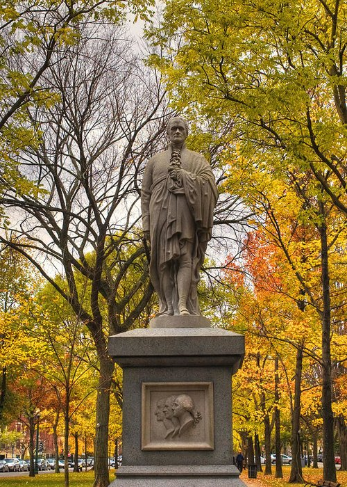 Boston Greeting Card featuring the photograph Alexander Hamilton Statue by Joann Vitali