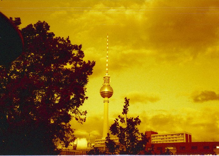 Tv Tower Photographs Greeting Cards
