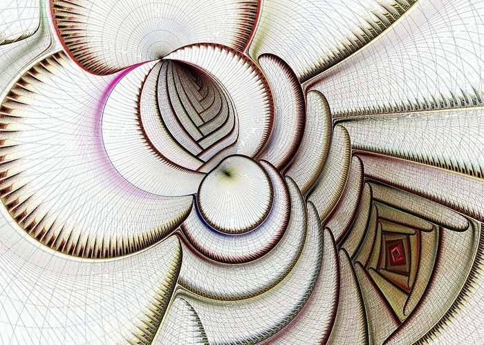 Algorithmic Abstract Mixed Media Greeting Cards