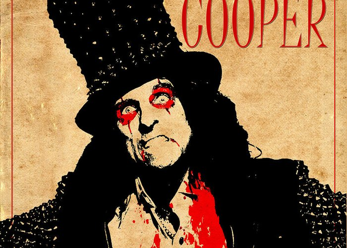 Alice Cooper Greeting Card featuring the photograph Alice Cooper 1 by Andrew Fare