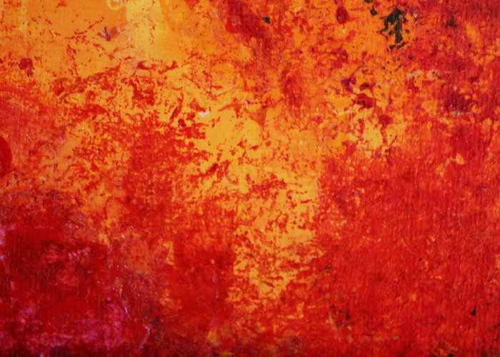 Modern Abstract Greeting Card featuring the painting Alive by Shelly Sexton