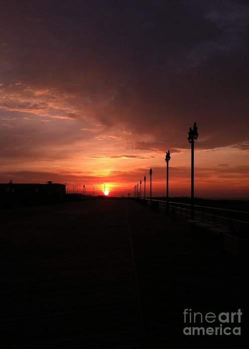 All Along The Boardwalk Greeting Card featuring the photograph All Along The Boardwalk by John Telfer