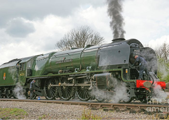 Steam Greeting Card featuring the photograph All Fired Up by David Birchall