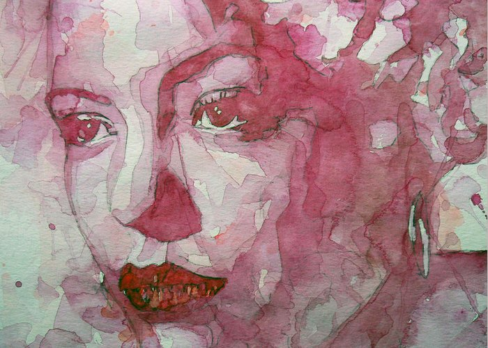 Billie Holiday Greeting Card featuring the painting All Of Me by Paul Lovering