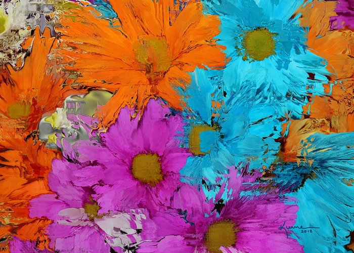 Flower Greeting Card featuring the photograph All The Flower Petals In This World 2 by Kume Bryant