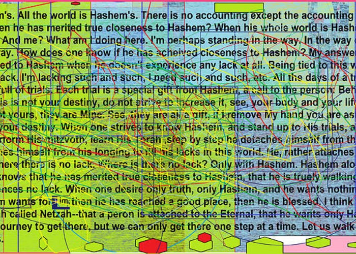 Greeting Card featuring the digital art all the writing belongs to Hashem by David Baruch Wolk