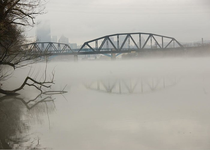 Landscape Greeting Card featuring the photograph Allegheny In The Mist by Jay Ressler